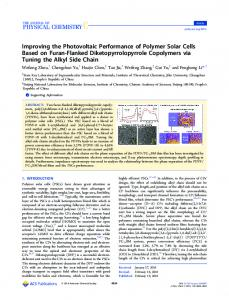 Improving the Photovoltaic Performance of ... - ACS Publications