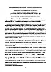 Improving the security of multiparty quantum secret sharing ... - arXiv