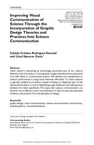 Improving visual communication of science through the