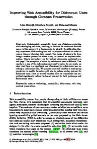 Improving Web Accessibility for Dichromat Users ... - Springer Link