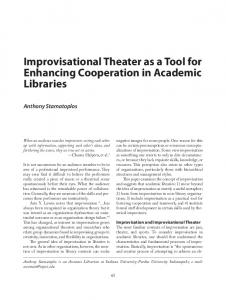 Improvisational Theater as a Tool for Enhancing Cooperation in ...