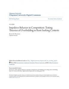 Impulsive Behavior in Competition - Chapman University Digital