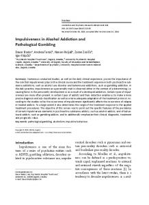 Impulsiveness in Alcohol Addiction and