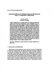 Imputation Methods for Missing Categorical Questionnaire Data: A ...