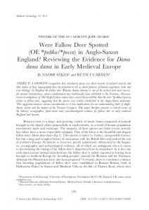 in Anglo-Saxon England?