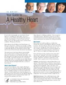 In Brief: Your Guide to Healthy Heart