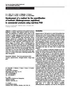 in commercial products using real-time PCR - Springer Link