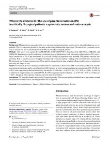 in critically ill surgical patients