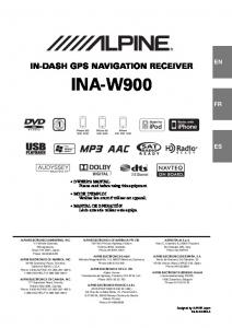 In-dash gps navigation receiver ina-w900
