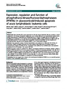 in glucocorticoid-induced apoptosis