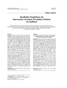 In-hospital outcomes of primary percutaneous coronary intervention in ...