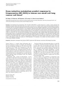 in human non-small-cell lung cancer cell lines? - Nature