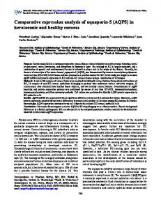 in keratoconic and healthy corneas - BioMedSearch