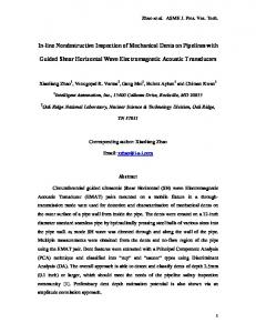 In-line Nondestructive Inspection of Mechanical Dents on Pipelines ...