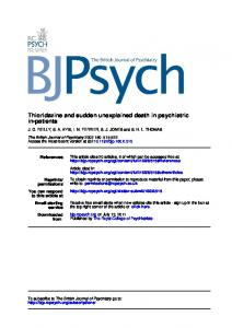 in-patients Thioridazine and sudden unexplained death in psychiatric