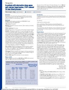 In patients with obstructive sleep apnea and resistant hypertension