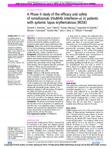 in patients with systemic lupus erythematosus