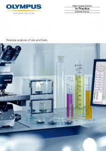 In Practice Residue analysis of oils and fuels - Olympus America