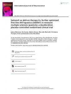in resistant multiple sclerosis spasticity