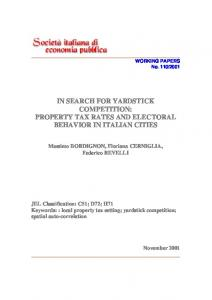 in search for yardstick competition: property tax rates and electoral ...