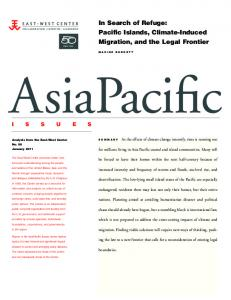 In Search of Refuge: Pacific Islands, Climate ... - East-West Center