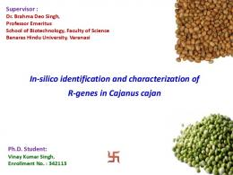 In-silico identification and characterization of R-genes ...