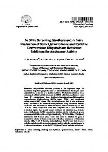 In Silico Screening, Synthesis and In Vitro Evaluation