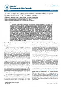 In Silico Structural and Functional Prediction of ... - OMICS International