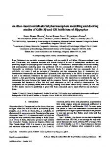 In silico–based combinatorial pharmacophore ... - Springer Link