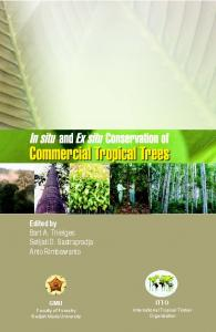 In situ and Ex situ Conservation of Commercial ...