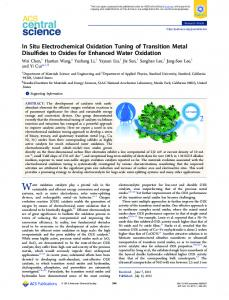 In Situ Electrochemical Oxidation Tuning of ... - ACS Publications
