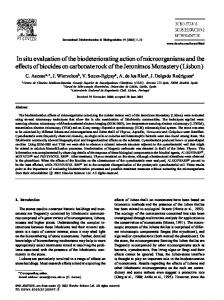 In situ evaluation of the biodeteriorating action of microorganisms and ...