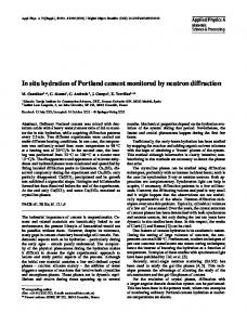 In situ hydration of Portland cement monitored by ... - Springer Link
