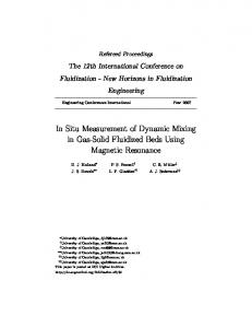 In Situ Measurement of Dynamic Mixing in Gas-Solid Fluidized Beds