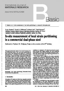 In-situ measurement of local strain partitioning in a ...