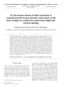 In situ measurement of state transition in ... - Inter Research