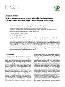 In Situ Measurement of Wind-Induced Pulse Response of Sound ...