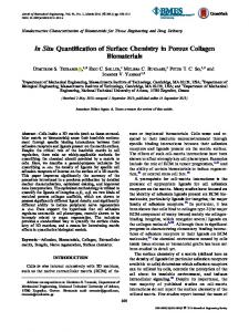 In Situ Quantification of Surface Chemistry in Porous Collagen ... - CORE