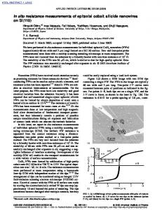 In situ resistance measurements of epitaxial cobalt silicide nanowires