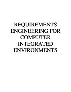 In systems engineering and software engineering, requirements ...