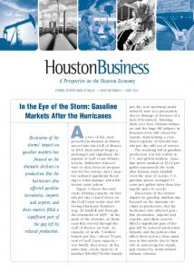 In the Eye of the Storm: Gasoline Markets After the Hurricanes