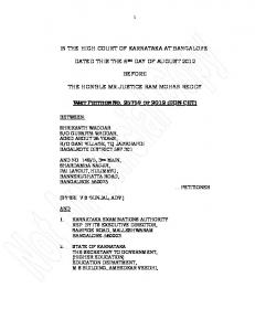 in the high court of karnataka at bangalore dated this the 6th day of ...