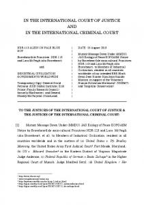 IN THE INTERNATIONAL COURT OF JUSTICE ... - MILINT Earth Day