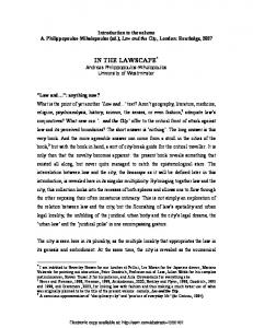 in the lawscape - SSRN papers
