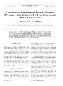 in the liver of bullhead Cottus gobio from a polluted river - Inter Research