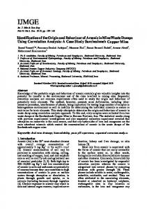 In The name of God the Compassionate - Int. Journal of Mining & Geo ...