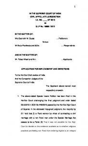 in the supreme court of india civil appellate jurisdiction - Lawyers ...