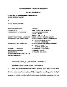 IN THE SUPREME COURT OF MISSISSIPPI NO. 2013-KA-00390 ...