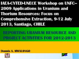 In Uranium Exploration - UNECE