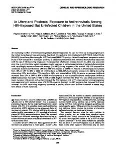 In Utero and Postnatal Exposure to Antiretrovirals Among ... - UIC Indigo